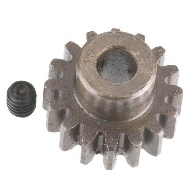 16T Mod 1 Extra Hard Steel Pinion Gear 5mm Bore