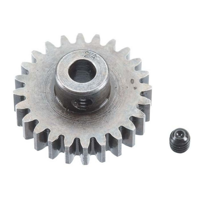 24T Mod 1 Extra Hard Steel Pinion Gear 5mm Bore