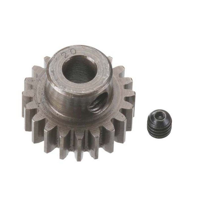 20T Mod 0.8 Extra Hard Steel Pinion Gear 5mm Bore