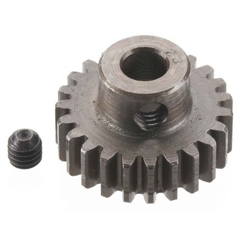 23T Mod 0.8 Extra Hard Steel Pinion Gear 5mm Bore