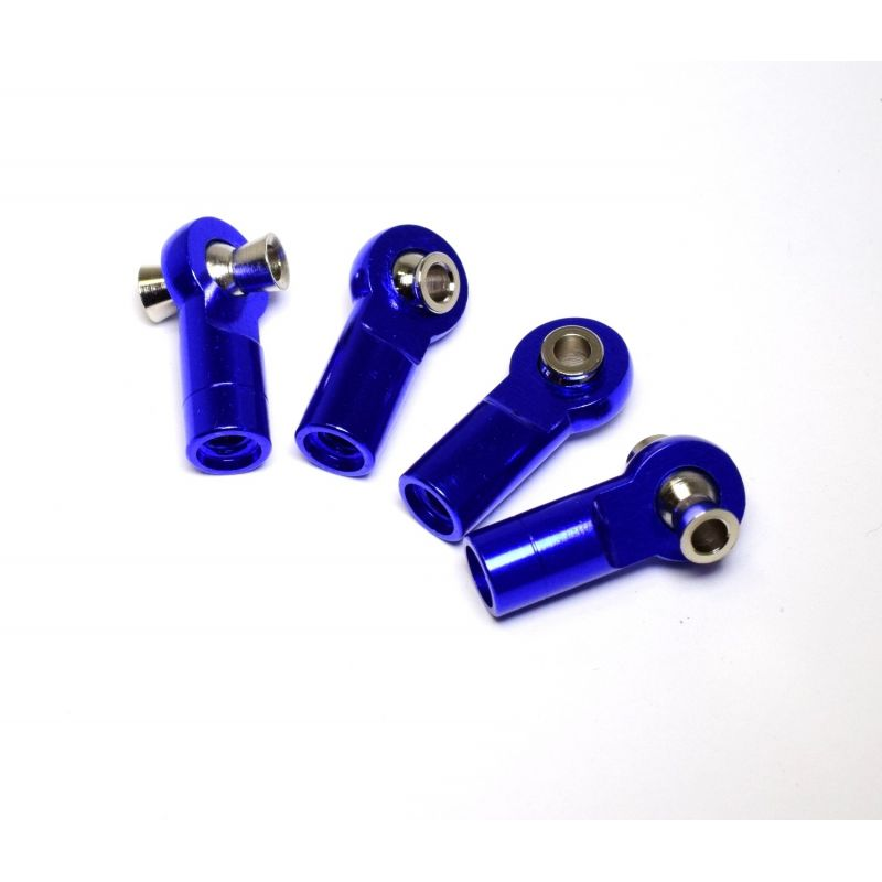 Blue 7075 Aluminum Tie Rod Ends (4)