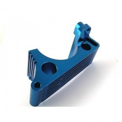 Traxxas Revo Blue Aluminum engine mount w/Heat Sink