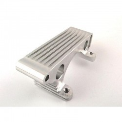 Silver Aluminum engine mount w/heat sink