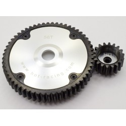 Silver Hub Hd 56t 18t Gear Set Baja