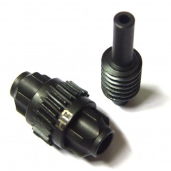 Hot Racing Lightened Steel Axle Worm Gear Set (Spool and Pinion) - CCR [SCCR1200]