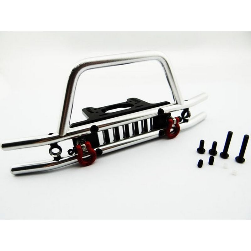 Tubular Front Bumper with Winch & Light Mount.