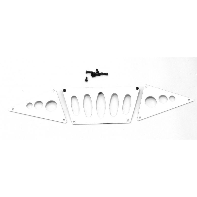 Hot Racing Skid Plate for AX80044 (silver) - SCX10 Honcho [SCX03P08]