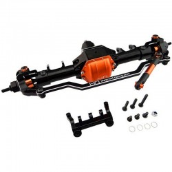 Front Axle Assembly Aluminum (Orange) - Axial Scx10