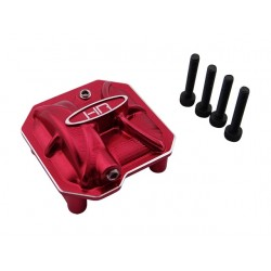 Aluminum Ar44 Axle Diff Covers (Red) - Axial Scx 2