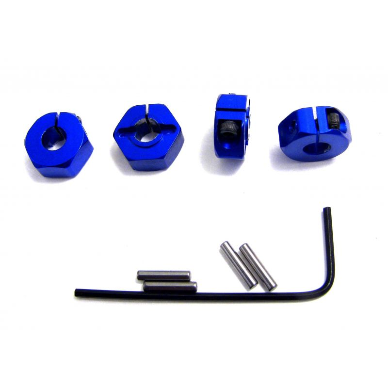 Blue Aluminum Locking 12mm Wheels Hex Kit