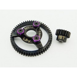 Steel Pinion and Spur Gear Set (18t/56t 32p)(Purple) - Traxxas