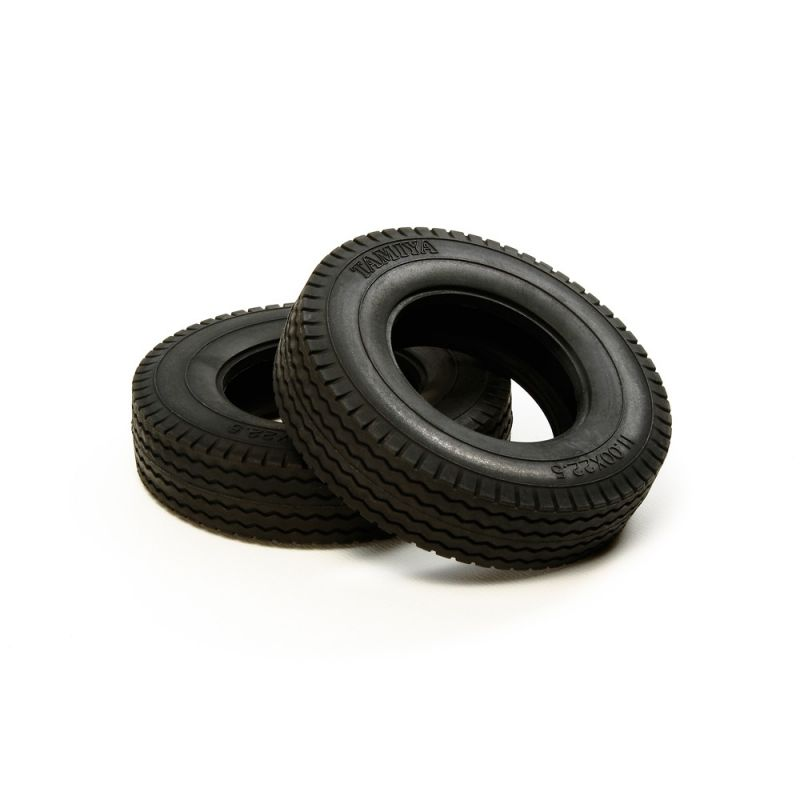 Tamiya RC Tractor Truck Tires (2 pieces) - Hard / 22mm [56527]