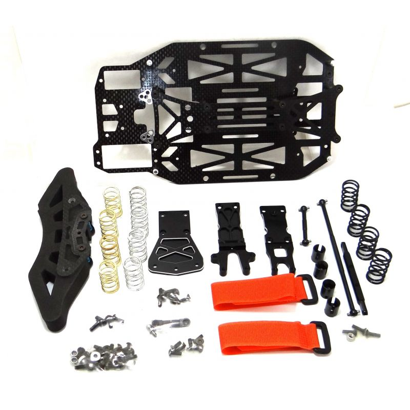 Hot Racing 1/16 Rally Graphite Chassis 200mm Sedan Conversion [VXS16GS]