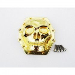 Hot Racing Metal Skull AR60 Diff Cover (Gold) - Axial Yeti Wraith AX10 [WRA12CT04]