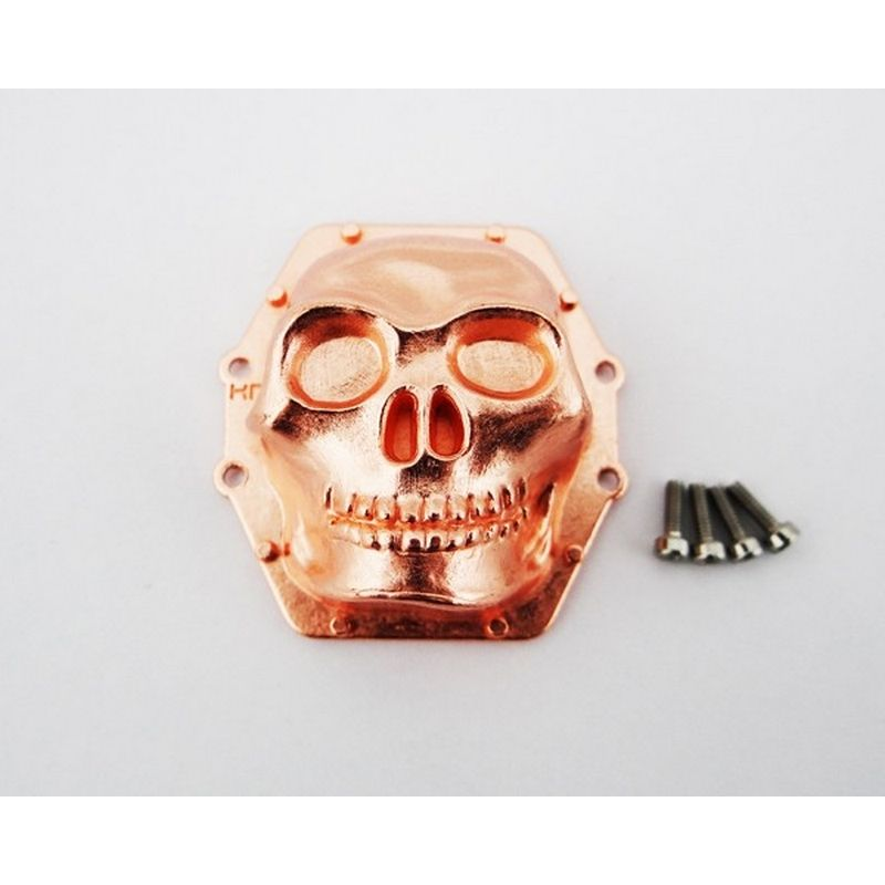 Metal Skull AR60 Diff Cover (Rose Gold) - Yeti Wraith AX10