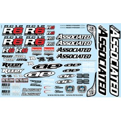 RC12R6 Decal Sheet