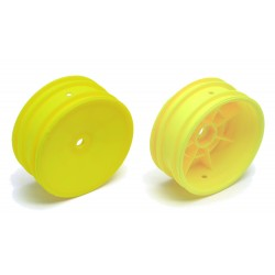Front Buggy Dish Wheels Yellow (2)