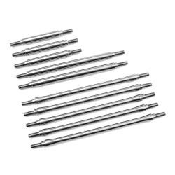 1/4 Stainless Steel 10pc Link Kit for Traxxas TRX-4 Stock Wheelb