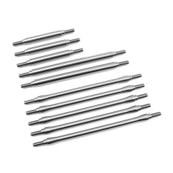 Inicsion 1/4 Stainless Steel 10pc Link Kit for Traxxas Trx-4-12.
