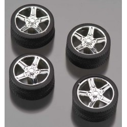 1/24 Irok s Rims w/Tires Chrome