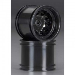 Front Revolver 2.2 Truck Wheels Black Associated/Kyosho