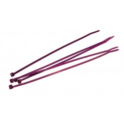 8 Inch Purple Nylon Tie Wraps 5 Count
