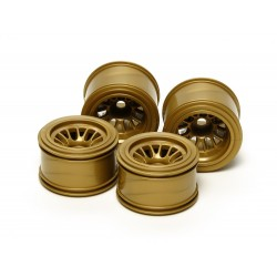 RC F104 Mesh Wheels Set - Gold