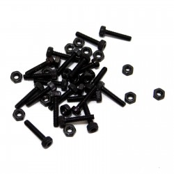 Replacement 2x10mm Hardware for BLW19 Steel Wheels (Black)(20)