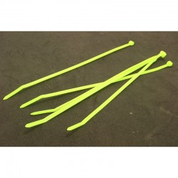 W4C Fluorescent Green nylon tie wraps 8 inch 5 count [NZT20805]