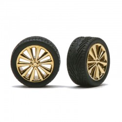 """BELLA'S"" RIMS W/TIRES GOLD"