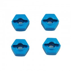 Aluminum Wheel Hex (4 pieces)(12mm)(Blue)