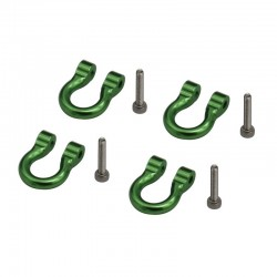 1/10 Scale Aluminum Green Tow Shackle D-Rings (4) TRX4