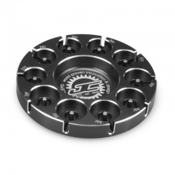 Aluminum Pinion Puck Stock Range 27-36t 48-P (Black)