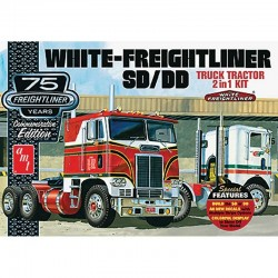1/25 White Freightliner 2-in-1 SC/DD Cabover