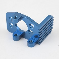 Blue Aluminum Heat Sink Motor Mount