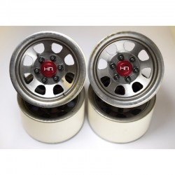 Raw Steel 2.2 Beadlock 6-Lug Wagon Wheels 12mm Hex (4)