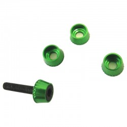 Green Aluminum 3mm Conical Washers (4)