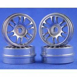 Radio Shack XMODs Split 6-Spoke Silver Aluminum Wheels