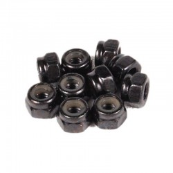 Axial Nylon Locking Hex Nut 4mm Black (10)