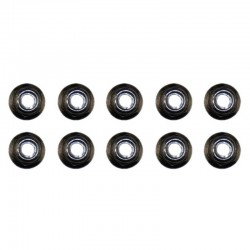 M4 Nylon Lock Nut (Black) (10pcs)