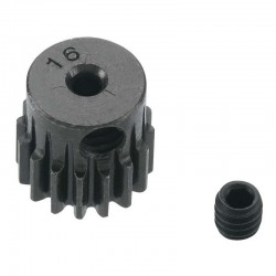 16T Mod 0.5 Hardened Steel Pinion Gear 2mm Bore