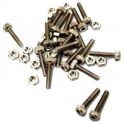 Replacement 2x10mm Hardware for BLW19 Steel Wheels (Chrome)(20)