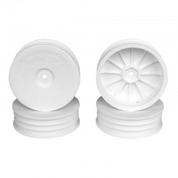 Slim Speedline Buggy Wheels for B6/B6D/RB6 Front White 4 pieces