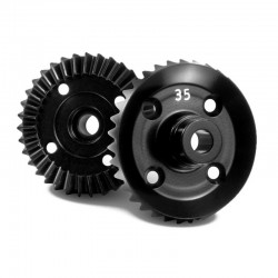 aluminum diff. bevel gear 35t - 7075 T6 hard coated