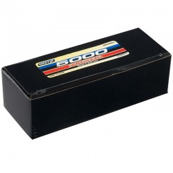LiPo 2S 7.4V 5000mAh 35C Hard Case Battery Deans