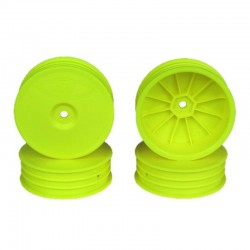 Slim Speedline Buggy Wheels for TLR 22 3.0-4.0 Front Yellow 4Pc