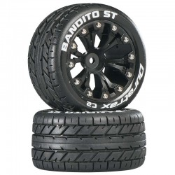 Duratrax Bandito ST 2.8 inch Truck 2WD Mounted Rear C2 Black (2) [DTXC3542]