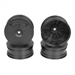 Speedline Buggy Wheels for Losi 22-4/Tekno EB410 Front Black (4)