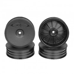 Slim Speedline Buggy Wheels for B6/B6D/RB6 Front Black 4 pieces