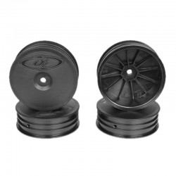 Slim Speedline Buggy Wheels for TLR 22 3.0 - 4.0 Front Black 4Pc